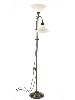 Twin Parallel Floor Lamp with 1 Up & 1 Down Light
