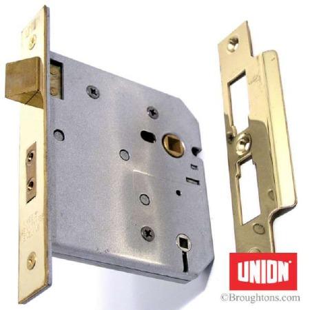 """Union Bathroom Door Lock 4"""" Brass"""