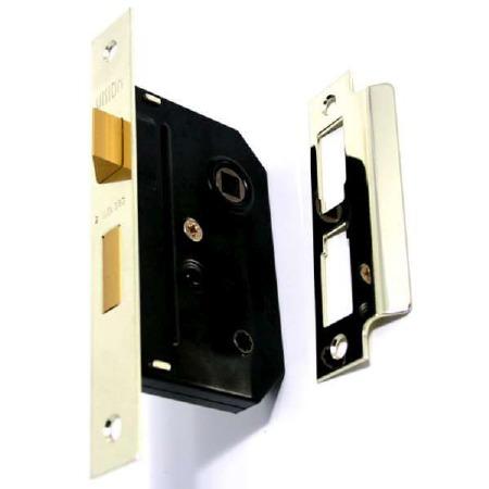 """Union Bathroom Door Lock 2294 2.5"""" Brass"""