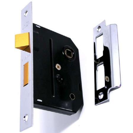 "Union Bathroom Door Lock 3"" Polished Chrome"