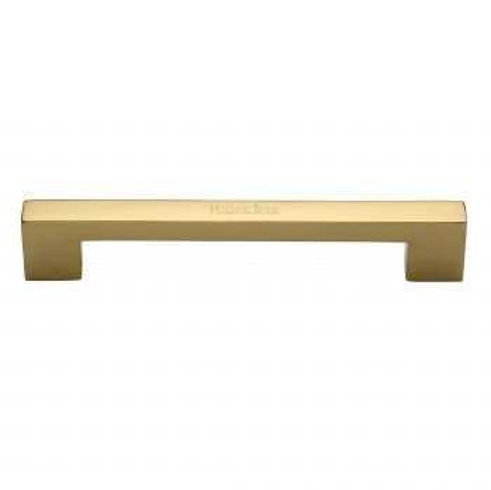 Heritage Urban Pull Handle V1390 305 Medium Polished Brass
