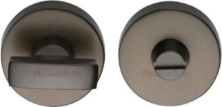 Heritage V1018 Bathroom Thumb Turn & Release Matt Bronze Lacquered