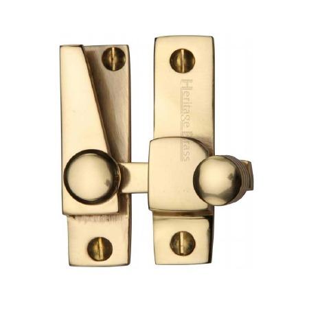 Heritage Hook Plate Sash Fastener V1105 Polished Brass