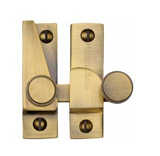 Heritage Hook Plate Sash Fastener V1106 Antique Brass