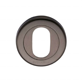 Heritage V4010 Oval Profile Escutcheon Matt Bronze Lacquered