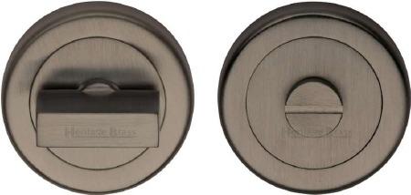 Heritage V4035 Bathroom Thumb Turn & Release Matt Bronze Lacquered