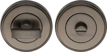 Heritage V4040 Bathroom Thumb Turn & Release Matt Bronze Lacquered