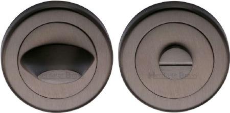 Heritage V4043 Bathroom Thumb Turn & Release Matt Bronze Lacquered