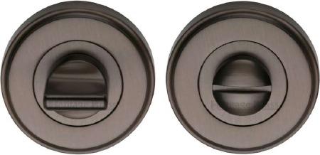 Heritage V4045 Bathroom Thumb Turn & Release Matt Bronze Lacquered