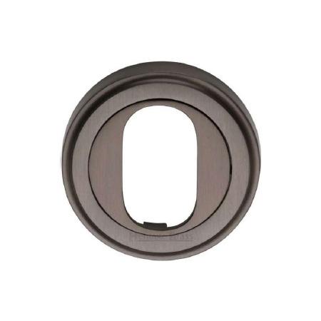 Heritage V5010 Oval Profile Escutcheon Matt Bronze Lacquered