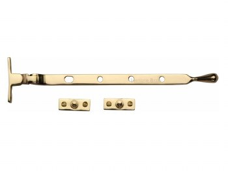 "Heritage Ball Casement Stay 10"" V992 Polished Brass"