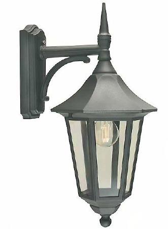 Elstead Valencia Outdoor Wall Light Lantern Black