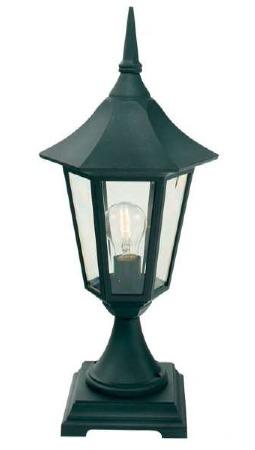 Elstead Valencia Pedestal Lantern Light Black