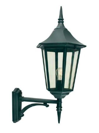 Elstead Valencia Grande Large Outdoor Wall Uplight Lantern Black
