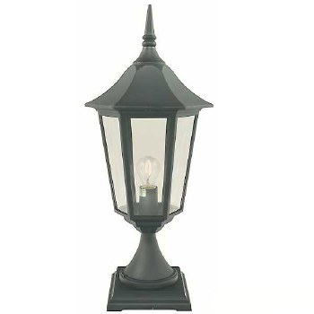 Elstead Valencia Grande Pedestal Lantern Light Black