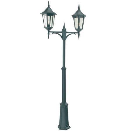 Elstead Valencia Grande Twin Light Lamp Post Black