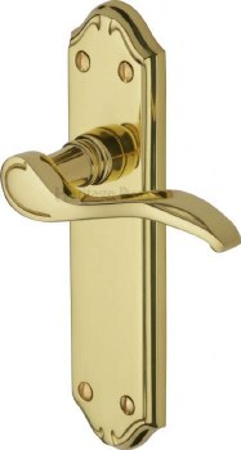 Heritage Verona MM627 Door Handles Polished Brass Lacquered