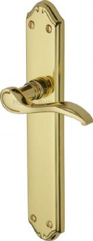 Heritage Verona Long Latch Door Handles MM827 Polished Brass Lacquered