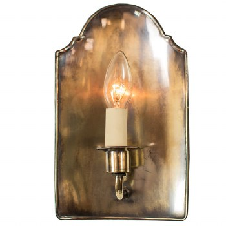 Vestry Wall Light Renovated Brass