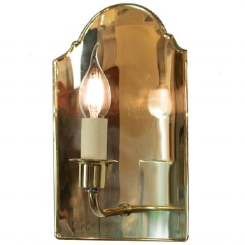 Vestry Wall Light Polished Brass Unlacquered