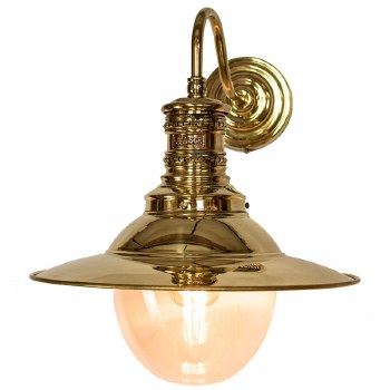 Victoria Station Lamp Polished Brass with Clear Glass