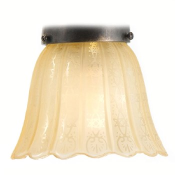 Victorian Etched Amber Shade