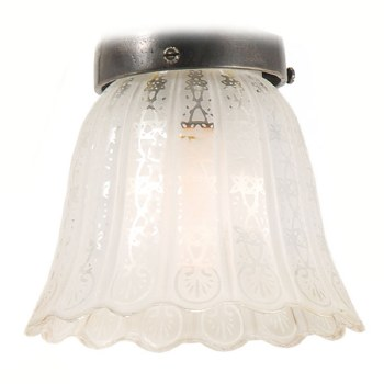 Victorian Etched White Shade