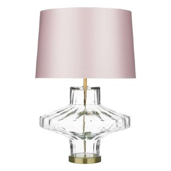 David Hunt VIE4308 Vienna Glass Table Lamp Base Only Clear