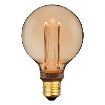 LED ES Vintage Micro Filament Globe Bulb 3.5W Dimmable
