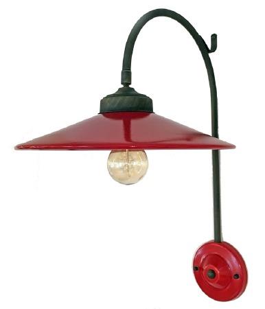 Italian Ceramic Adjustable Wall Light Rosso