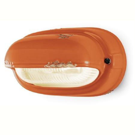Italian Ceramic Wall Light C291 Vintage Arancio