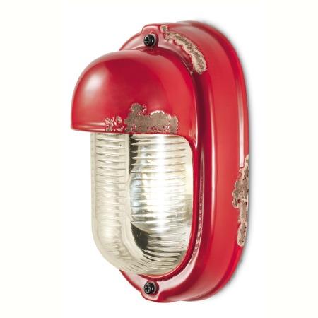 Italian Ceramic Wall Light C292 Vintage Rosso