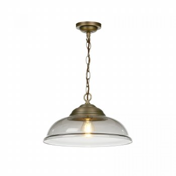 David Hunt WEB0110 Webster Pendant Antique Brass Smoked