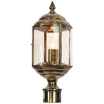"""Wentworth Lamp Post Head to suit 2"""" dia. Renovated Brass"""