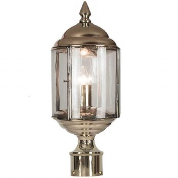 """Wentworth Lamp Post Head to suit 2"""" dia. Polished Nickel"""