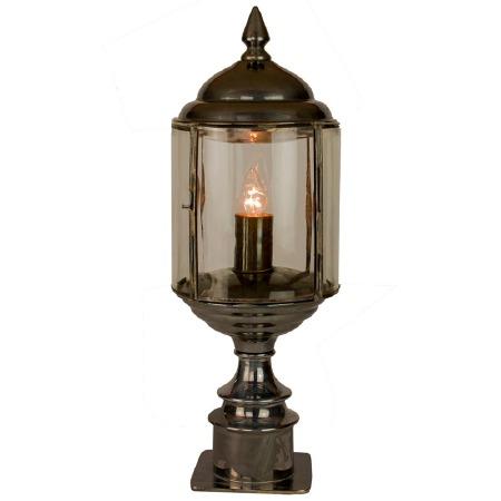Wentworth Short Pillar Lantern Antique Brass