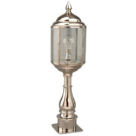 Wentworth Tall Pillar Lantern Nickel
