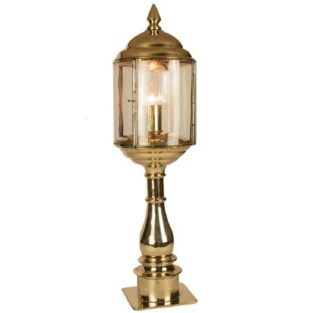 Wentworth Tall Pillar Lantern Polished Brass