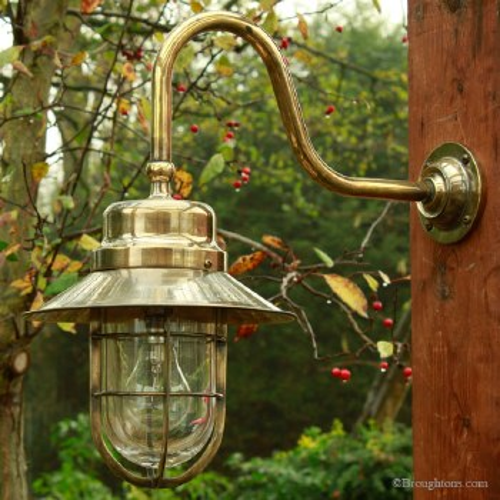 Wheelhouse Large Wall Light, Light Antique Brass