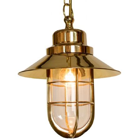 Wheelhouse Pendant Polished Brass Clear Glass