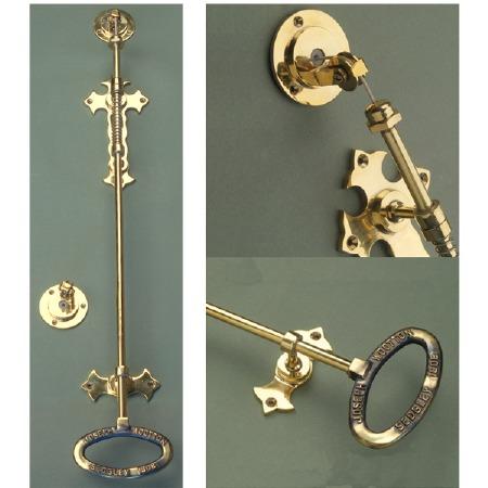 Wilmslow Door Bell Pull Renovated Brass