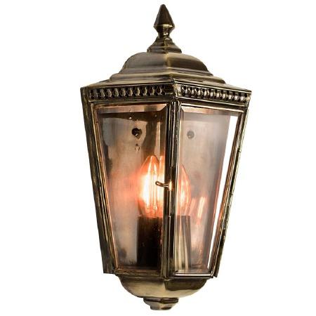Windsor Outdoor Passage Lantern Renovated Brass