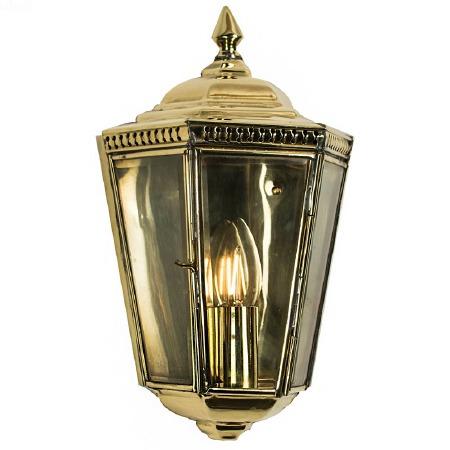 Windsor Outdoor Passage Lantern Polished Brass