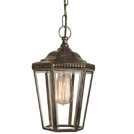 Windsor Hanging Pendant Lantern Antique Brass