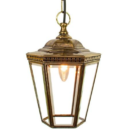 Windsor Hanging Pendant Lantern Renovated Brass
