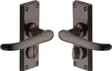 Heritage Windsor Privacy Door Handles V735 Matt Bronze