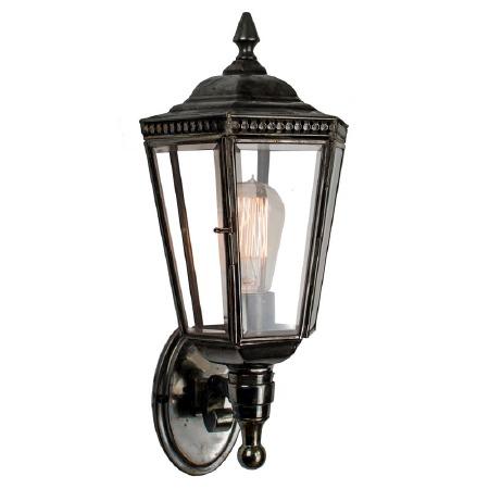 Windsor Outdoor Wall Lantern Antique Brass