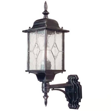 Elstead Wexford Outdoor Wall Up Light Lantern Black