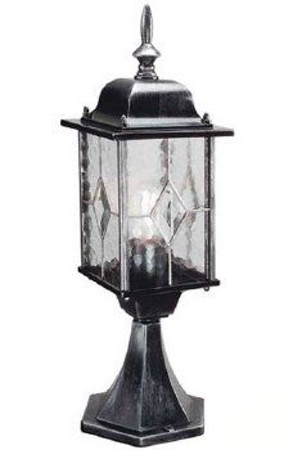 Elstead Wexford Pedestal Lantern Light Black