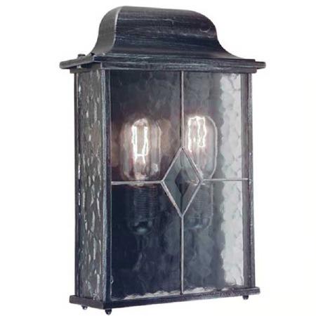 Elstead Wexford Flush Outdoor Wall Light Lantern Black